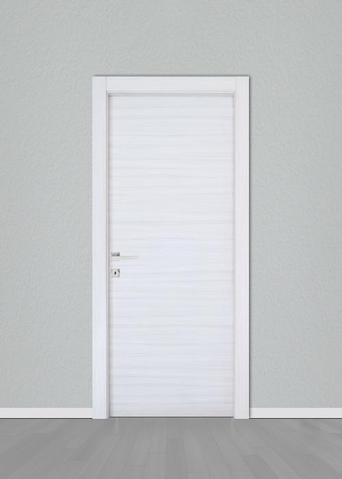 Πόρτα εσωτερική Laminate Κρόνος Ανάγλυφη Λευκό - Γκρί