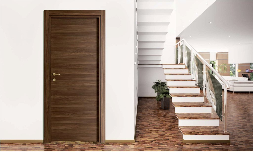 Πόρτα εσωτερική Laminate Κρόνος Ανάγλυφη Καρυδιά