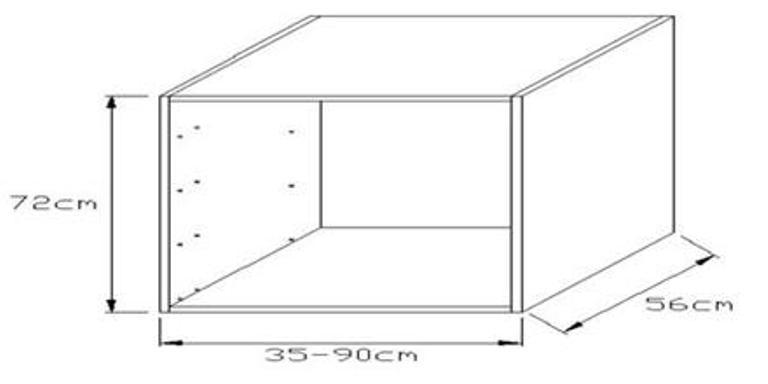 Κουτί βάσης συρταριέρας κουζίνας