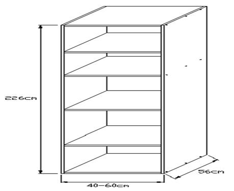 Κουτί τροφοθήκης 2250 x 560