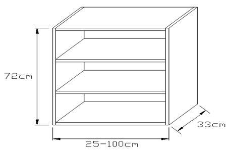 Κουτί κρεμαστό κουζίνας 720 x 330mm