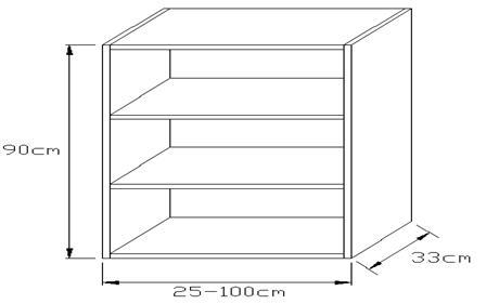 Κουτί κρεμαστό κουζίνας 900 x 330mm