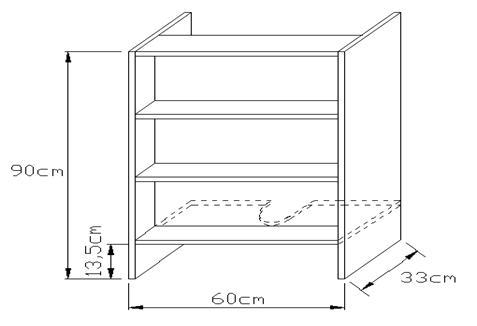 Κουτί απορροφητήρα 900 x 330mm