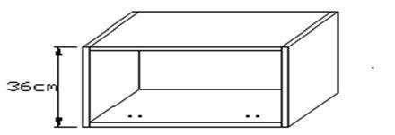 Κουτί κρεμαστό οριζόντιο 360 x 330mm