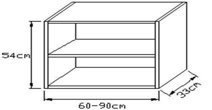 Κουτί κρεμαστό οριζόντιο 540 x 330mm